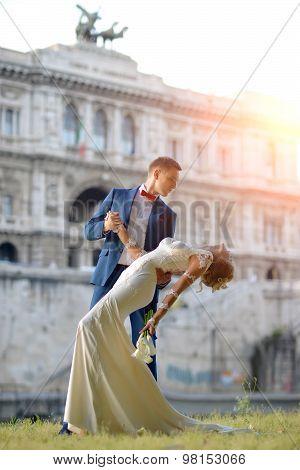 Wedding Couple At Corte Di Cassazione Italy Rome
