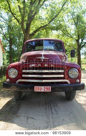1950s pickup truck - Opel Blitz 1.75T - vertical front view