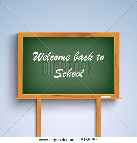 Back To School On Green Board Template