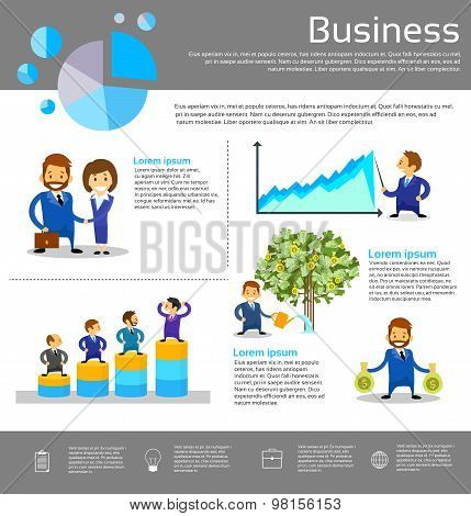 Business People Financial Success Infographic Businesspeople