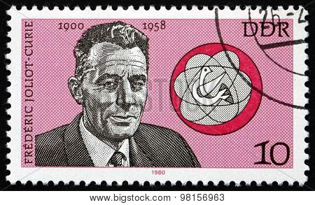 Postage Stamp Germany 1980 Frederic Joliot-curie, Physicist