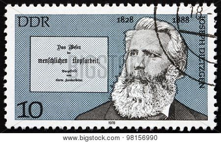 Postage Stamp Germany 1978 Peter Joseph Dietzgen, Journalist