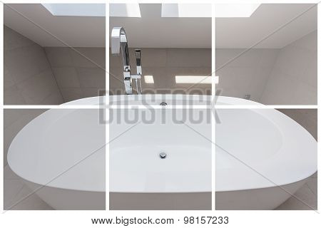 Washbasin In The Bathroom