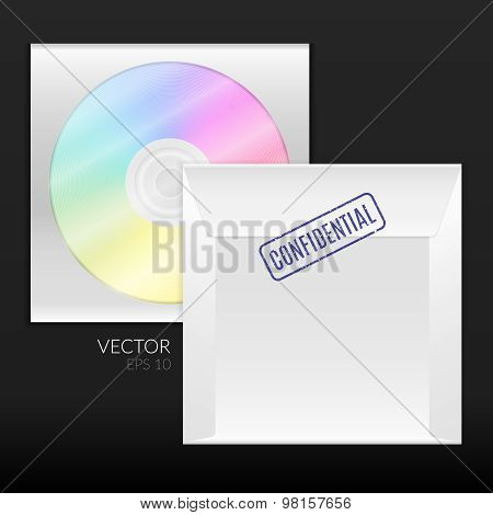 Cd Or Dvd Disk With Packing Envelope