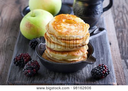 Pile Of Apple Fritters In A Pan