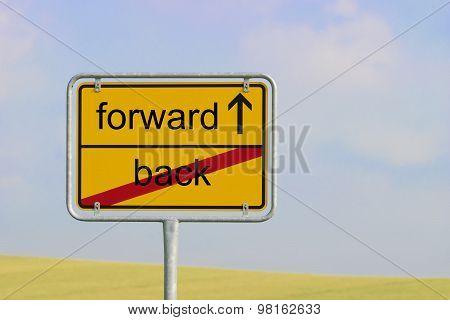 Sign Back Forward
