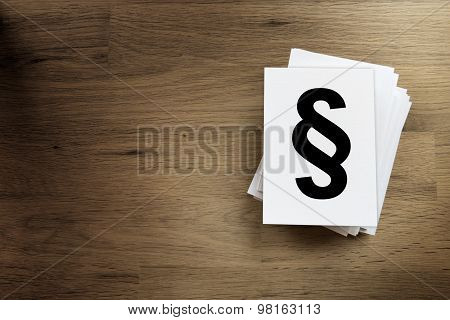 Paper Card With Paragraph Sign