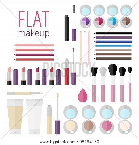 Flat Mega Set Of Makeup Products
