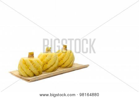 Three Little Pineapple On White Background