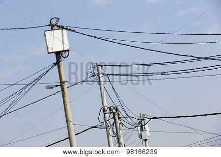 Power Poles In Bulgaria