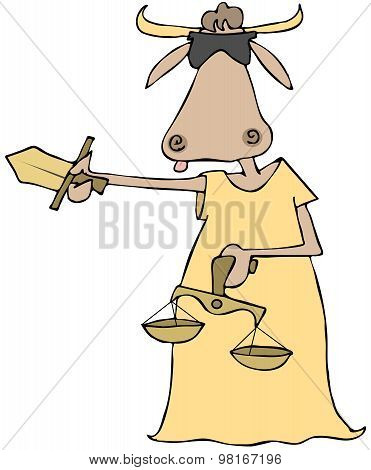 Cow lady justice
