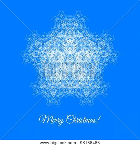 Christmas Card With Snowflake