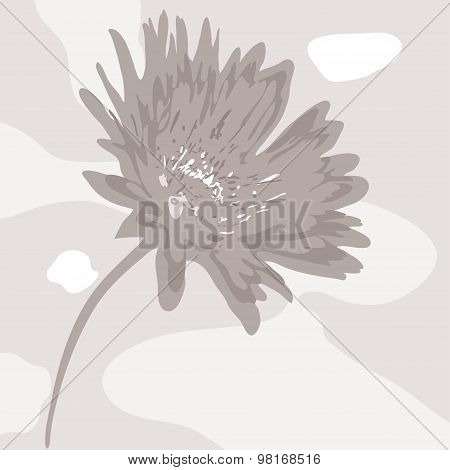 Vector Abstract Desaturated Flower
