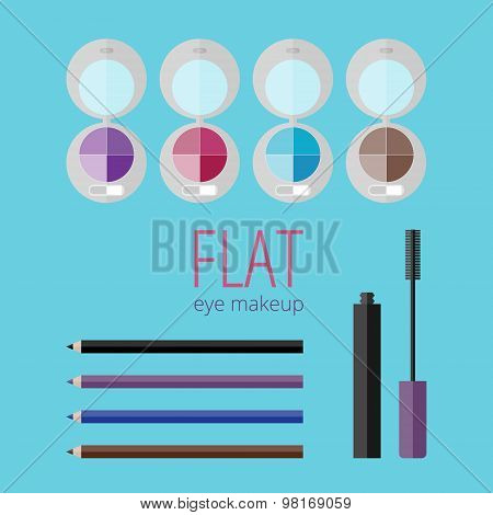 Flat Eye Makeup Set