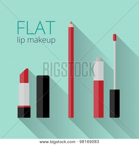 Flat Lip Makeup Set