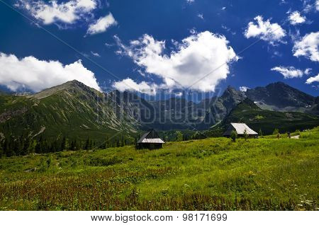 Breathtaking Mountain Landscape On Sunny Day