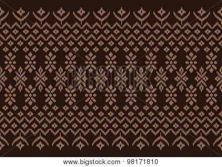 Silk Cloth Brown Pattern