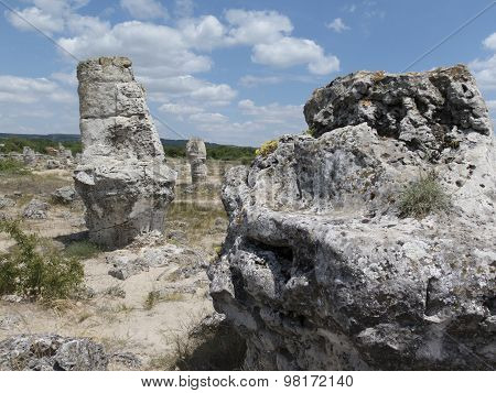 Stone Forest (pobiti Kamani) Under The Sky , Near Varna, Landmark