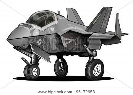 Modern Fighter Jet Cartoon