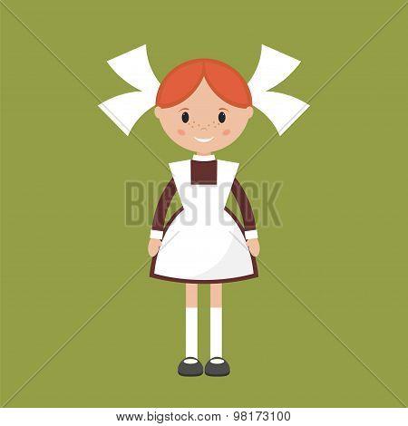 Soviet Schoolgirl Vector.