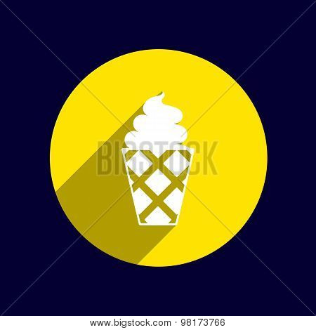 Ice cream vector logo icon frozen, food