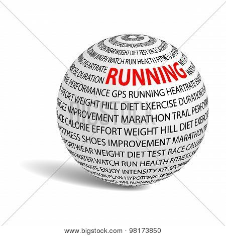 Running Word Ball