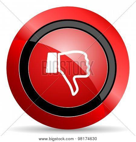dislike red glossy web icon