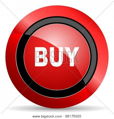buy red glossy web icon