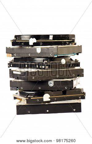 Pile Of Hard Disk