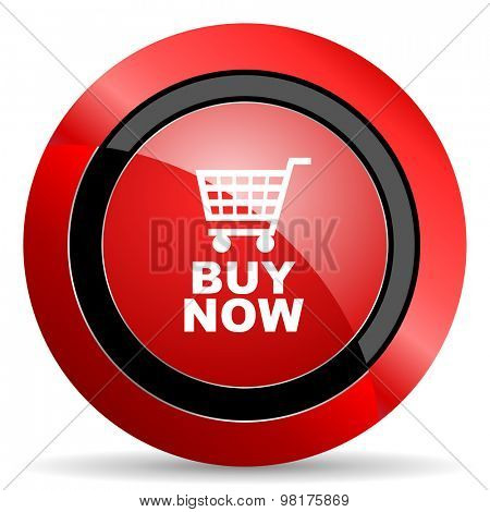 buy now red glossy web icon
