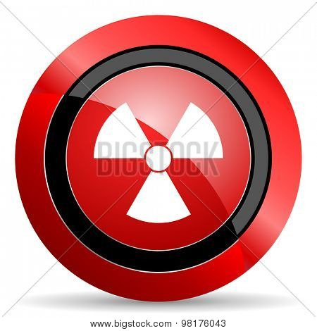 radiation red glossy web icon