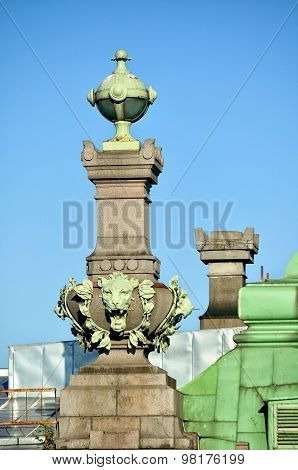 The Sculptures  Of The St. Petersburg Theatre Of Comedy Named After N.p. Akimov On Nevsky Prospect I