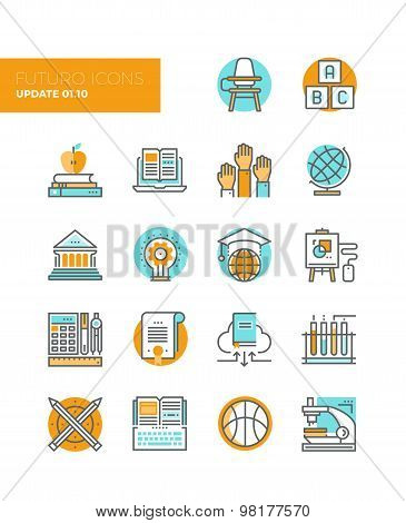 Education And Training Line Icons