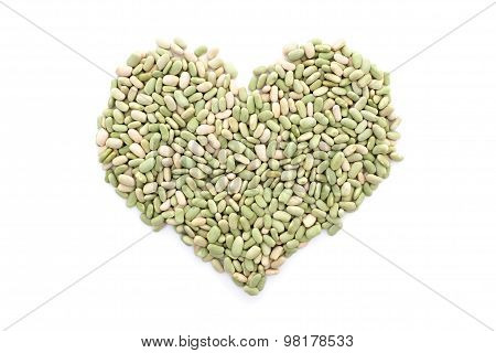 Flageolet Beans In A Heart Shape