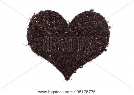 Compost In A Heart Shape