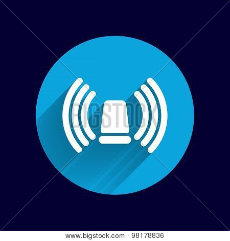 icon beacon siren isolated caution police white medical