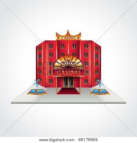 Casino Building Isolated Vector Illustration