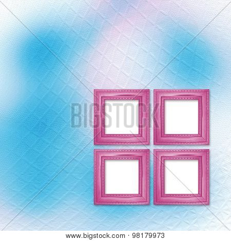 Multicolored Backdrop For Greetings Or Invitations With Wooden Frames