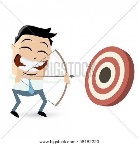 funny archery cartoon man