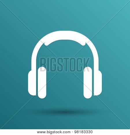 headphone icon vector music isolated hear funky white stereo