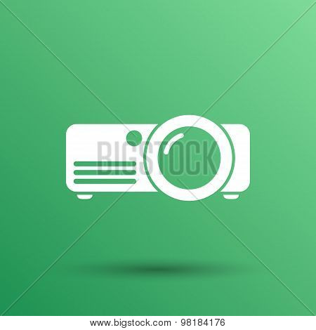 projector icon Rounded squares button vector symbol