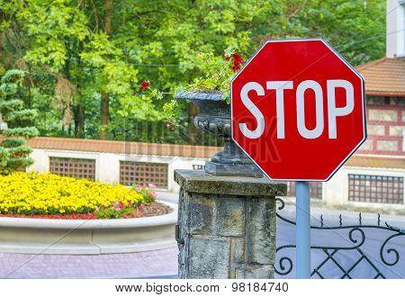 Stop Sign Closeup