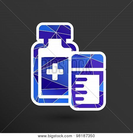 Natural medication medicament antibiotics icon vector illustration