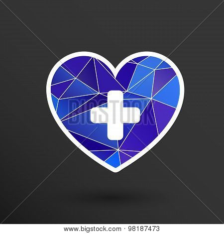 Heart icon medical life illustration health healthcare
