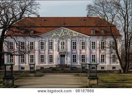 Closeup of the castle in Berlin Friedrichsfelde