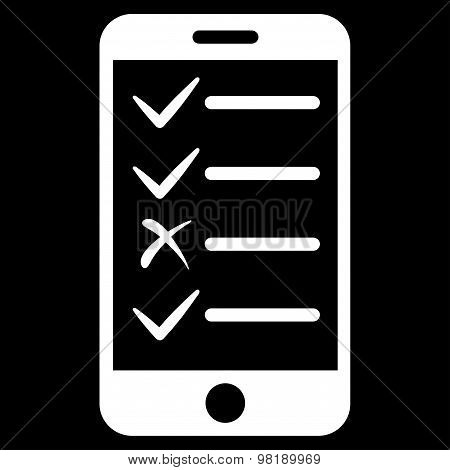 Mobile Tasks Flat Icon From Commerce Set