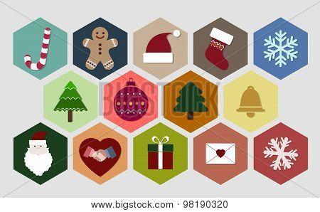 Christmas Icon Set - Illustration - Eps 10