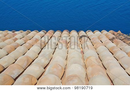 Roof Tile And Ocean