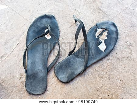 Flip flops Torn