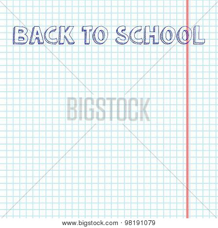 Blank exercise book paper sheet